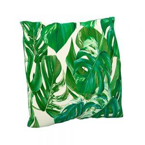 Cojín estampado Hojas Tropic | Cojines decorativos vintage personalizados con telas estampadas | Disponibles en todos tipos de telas: telas lisas, telas estampadas, telas vintage y telas para exterior impermeables.