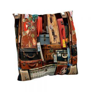 Cojín estampado Journey | Cojines decorativos vintage personalizados con telas estampadas | Disponibles en todos tipos de telas: telas lisas, telas estampadas, telas vintage y telas para exterior impermeables.