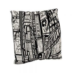Cojín estampado New York Pop BN | Cojines decorativos vintage personalizados con telas estampadas | Disponibles en todos tipos de telas: telas lisas, telas estampadas, telas vintage y telas para exterior impermeables.
