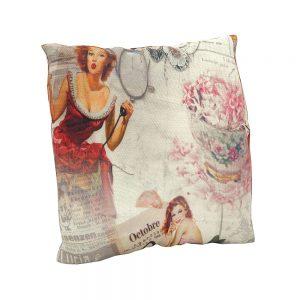 Cojín estampado Vintage Huit | Cojines decorativos vintage personalizados con telas estampadas | Disponibles en todos tipos de telas: telas lisas, telas estampadas, telas vintage y telas para exterior impermeables.