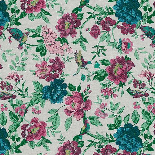 Telas artesanales cosidas a mano diseño Colibri 20 | Telas online para interiores Jacquard de dibujo tejido | Descubre nuestras telas para tapizar de colores exclusivos y estampados únicos.