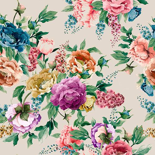Tela Emily 3 diseño estampado | Telas estampadas online interiores de inspiración vintage | Descubre nuestras telas para tapizar de colores exclusivos y estampados únicos.