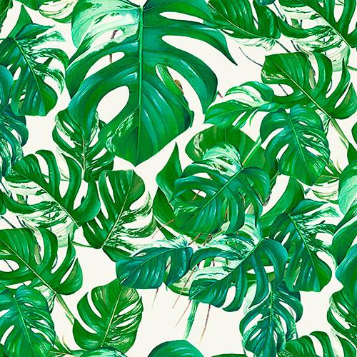 Tela Hojas Tropic diseño estampado | Telas estampadas online interiores de inspiración vintage | Descubre nuestras telas para tapizar de colores exclusivos y estampados únicos.