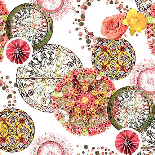 Tela Lorelay 6 diseño estampado | Telas estampadas online interiores de inspiración vintage | Descubre nuestras telas para tapizar de colores exclusivos y estampados únicos.