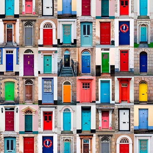 Tela Puertas diseño estampado | Telas estampadas online interiores de inspiración vintage | Descubre nuestras telas para tapizar de colores exclusivos y estampados únicos.