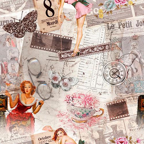 Tela Vintage Huit diseño estampado | Telas estampadas online interiores de inspiración vintage | Descubre nuestras telas para tapizar de colores exclusivos y estampados únicos.