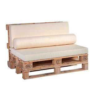 Cojines para palets: asiento, respaldo y cojín